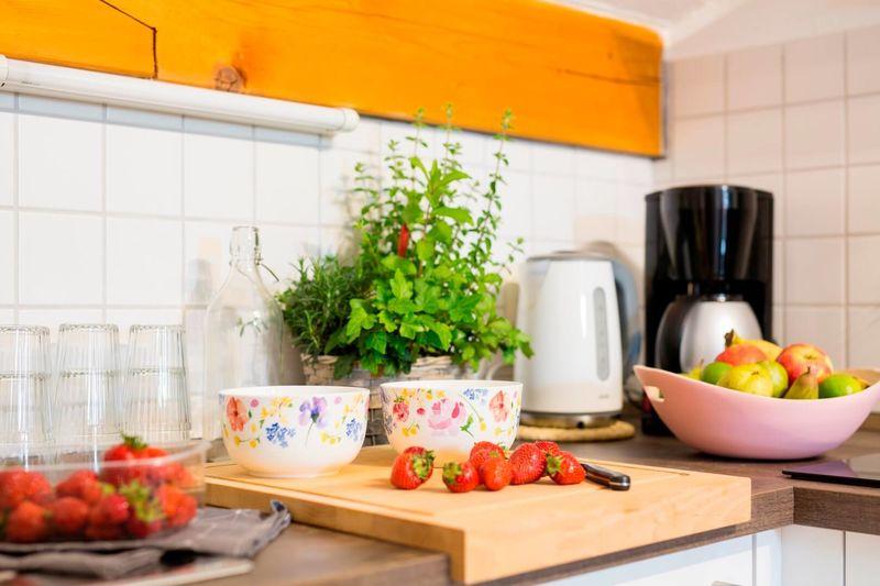 Ferienwohnung Kaiserblick Küche mit allem Notwendigen...