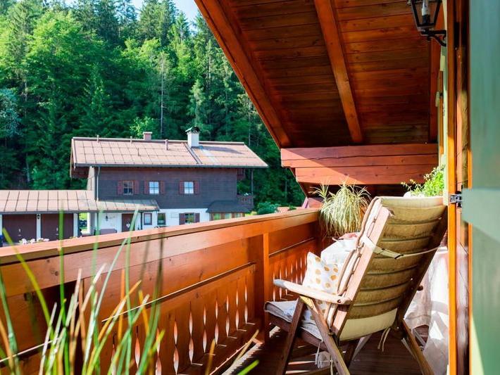 Balkonidylle in der Ferienwohnung Waldidyll