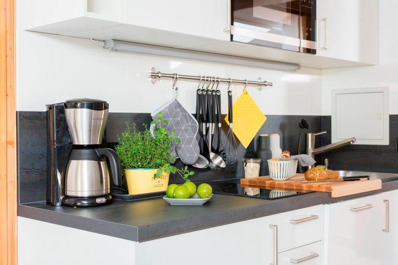 Ferienwohnung Waldidyll Küche mit allem Notwendigen...