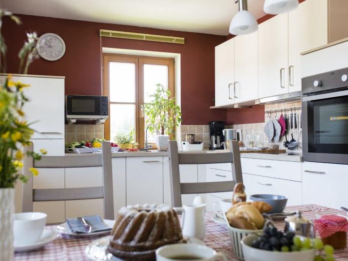 Detailblick auf die gehobene Küche die nichts an Ausstattung vermissen lässt